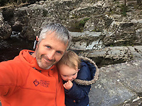 Pictured: Jet Moore with daughter Kiara Moore (IMAGE TAKEN FROM PARENTS OPEN SOCIAL MEDIA PAGE)<br /> Re: The funeral of two year old Kiara Moore, who died after being recovered from a silver Mini car found in river Teifi in Cardigan will be held today (Tue 27 Mar 2018) at Parc Gwyn Crematorium, Narberth, west Wales.<br /> Kiara was taken at the University Hospital of Wales in Cardiff after being rescued but was pronounced dead.<br /> It is believed the car she was in, rolled down a slipway while her mother got out momentarily to get cash out of the family business premises.<br /> Her parents Jet Moore and Kim Rowlands have expressed their grief on social media.