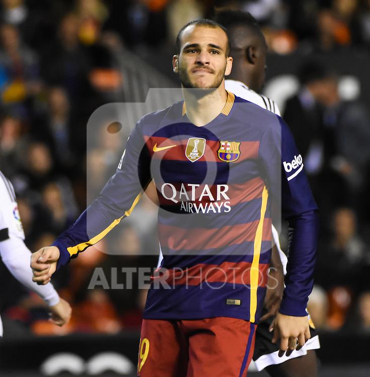 FC Barcelona's Sandro Ramirez  during Spanish King's Cup match. February 10, 2016. (ALTERPHOTOS/Javier Comos)