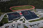 Goldenview Middle School, Anchorage, Alaska, hillside. Aerial photograph.