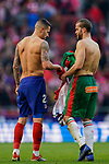 Victor Machin, Vitolo, of Atletico de Madrid and Victor Laguardia Cisneros of Deportivo Alaves exchange their jerseys after the La Liga 2018-19 match between Atletico de Madrid and Deportivo Alaves at Wanda Metropolitano on December 08 2018 in Madrid, Spain. Photo by Diego Souto / Power Sport Images