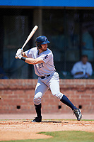 Pensacola Blue Wahoos third baseman Taylor Sparks (27) at bat during a game against the Mobile BayBears on April 26, 2017 at Hank Aaron Stadium in Mobile, Alabama.  Pensacola defeated Mobile 5-3.  (Mike Janes/Four Seam Images)