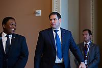 United States Senator Marco Rubio (Republican of Florida) departs Republican Senate luncheons on Capitol Hill in Washington D.C., U.S., on Tuesday, November 5, 2019.<br />  <br /> Credit: Stefani Reynolds / CNP /MediaPunch