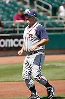 Marc Bombard, manager of the Round Rock Express playing against the Sacramento RiverCats at Raley Field, Sacramento, CA - 05/19/2009.Photo by:  Bill Mitchell/Four Seam Images