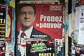 Prenez le Pouvoir: Take Power. Election poster for Front de Gauche French Presidential candidate Jean-Luc Melénchon.