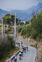 Peloton descending <br /> <br /> 107th Tour de France 2020 (2.UWT)<br /> (the 'postponed edition' held in september)<br /> Stage 1 from Nice to Nice 156km<br /> ©kramon
