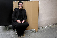 A woman begger on the streets of Tbilisi...