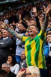 Stoke City 1 West Bromwich Albion 1, 24/09/2016. Bet365 Stadium, Premier League. West Brom fans. Photo by Paul Thompson.
