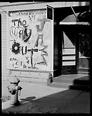 Opened in June, 1960, The Way Out was located under the Hawthorne Bridge at 240 SE Hawthorne. Live modern jazz was the featured entertainment. One of the owners was artist Louis Bunce, who decorated the restaurant with his own paintings. Weekly live radio broadcasts from the stage brought the crowds in. The front window was painted by artist Jim Smith, another one of the owners.