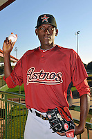 Feb 25, 2010; Kissimmee, FL, USA; The Houston Astros pitcher Jose Valdez (83) during photoday at Osceola County Stadium. Mandatory Credit: Tomasso De Rosa / FOUR SEAM IMAGES