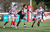 Mark Ioane during the Kingstone Press Championship match between London Broncos and Rochdale Hornets at Castle Bar , West Ealing , England  on 26 March 2017. Photo by Steve Ball / PRiME Media Images.