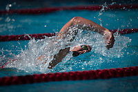 STANFORD, CA - February 17, 2018: Grant Shoults at Avery Aquatic Center. The Stanford Cardinal defeated the California Golden Bears 151-149 on Senior Day.