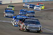 NASCAR Camping World Truck Series<br /> Las Vegas 350<br /> Las Vegas Motor Speedway, Las Vegas, NV USA<br /> Saturday 30 September 2017<br /> Noah Gragson, Switch Toyota Tundra and Christopher Bell, DC Solar Toyota Tundra<br /> World Copyright: Russell LaBounty<br /> LAT Images
