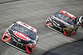 #95: Christopher Bell, Leavine Family Racing, Toyota Camry Rheem, #20: Erik Jones, Joe Gibbs Racing, Toyota Camry Reser's Fine Foods