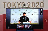 17th February 2021, Tokyo, Japan;  Christophe Dubi, Olympic Games, Olympische Spiele, Olympia, Executive Director, speaks remotely during the International Olympic Committee IOC, the International Paralympic Committee IPC and the Tokyo Organising Committee of the Olympic & Paralympic Games Tokyo 2020 joint press briefing in Tokyo, Japan, on Feb. 17, 2021. Tokyo 2020, IOC and IPC hosted a joint working meeting via teleconference focusing on COVID-19 countermeasures 15-17, Feb.