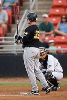 West Virginia left fielder Matt LaPorta (33) at bat versus Hickory at L.P. Frans Stadium in Hickory, NC, Friday, August 24, 2007.