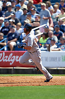 Detroit Tigers right fielder J.D. Martinez (28) running the bases during a Spring Training game against the New York Yankees on March 2, 2016 at George M. Steinbrenner Field in Tampa, Florida.  New York defeated Detroit 10-9.  (Mike Janes/Four Seam Images)