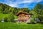 Oesterreich, Tirol, bei Hochfilzen: Gasthof Wiesenseehof | Austria, Tyrol, near Jochfilzen: mountain inn Wiesenseehof