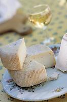 """Europe/France/Corse/2B/Haute-Corse/Cap Corse/Nonza: Fromage de brebis et fromage de chèvre de Galeria à la terrasse de l'auberge """"Patrizi"""""""