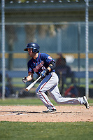 Minnesota Twins Joe Cronin (9) during a minor league Spring Training game against the Baltimore Orioles on March 17, 2017 at the Buck O'Neil Baseball Complex in Sarasota, Florida.  (Mike Janes/Four Seam Images)