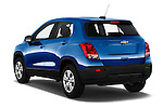 Car pictures of rear three quarter view of 2016 Chevrolet Trax LS 5 Door SUV Angular Rear