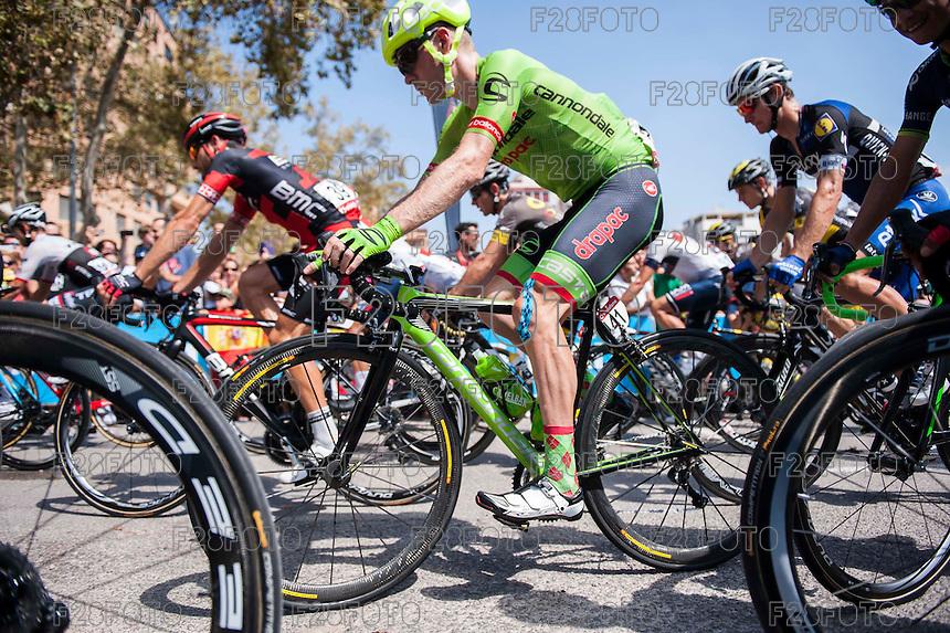 Castellon, SPAIN - SEPTEMBER 7: Andrew Talansky during LA Vuelta 2016 on September 7, 2016 in Castellon, Spain