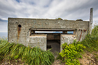 Battery Command Center, Aleutians world war II national historic area, Mt. Ballyhoo, Amaknak Island, Dutch Harbor, Aleutian Islands.