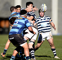 Jakob Te Hiwi of Otago Boys, during the 1st XV South Island Final rugby match between Otago Boys High School 1st XV and Nelson College 1st XV at Littlebourne in Dunedin, New Zealand on Saturday, 31 August 2019. Photo: Joe Allison / lintottphoto.co.nz
