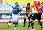 St Johnstone v Partick Thistle…13.05.17     SPFL    McDiarmid Park<br />David Wotherspoon fends off Callum Booth<br />Picture by Graeme Hart.<br />Copyright Perthshire Picture Agency<br />Tel: 01738 623350  Mobile: 07990 594431