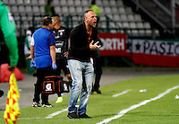 MANIZALES -COLOMBIA, 10-07-2016. Javier Torrente director técnico  del Once Caldas   durante su encuentro  contra  Alianza Petrolera  durante encuentro  por la fecha 2 de la Liga Aguila II 2016 disputado en el estadio Palogrande./ Javier Torrente coach of   Once Caldas during match agaisnt of Alianza Petrolera  during match for the date 2 of the Aguila League II 2016 played at Palogrande stadium . Photo:VizzorImage / Santiago Osorio / Contribuidor