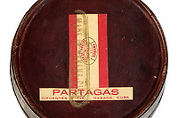 BNPS.co.uk (01202 558833)<br /> Pic: Duke'sAuctions/BNPS<br /> <br /> Pictured: The mahogany humidor.<br /> <br /> An unsmoked cigar given by Winston Churchill to his electrician has emerged for sale.<br /> <br /> So impressed was the wartime PM  with Ronald Cooper's work at installing lights around his lake at Chartwell, his country house in Kent, he handed him a limited edition Cuban cigar.<br /> <br /> Mr Cooper treasured the cigar, that was made by J, Cuesta of Havana, for the rest of his life.