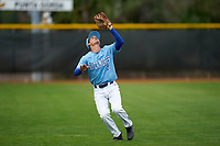 Indiana State Sycamores outfielder Dominic Cusumano (8) catches a fly ball during a game against the Dartmouth Big Green on February 21, 2020 at North Charlotte Regional Park in Port Charlotte, Florida.  Indiana State defeated Dartmouth 1-0.  (Mike Janes/Four Seam Images)
