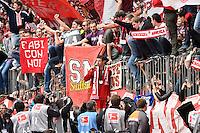 Thomas Mueller FC Bayern Muenchen con il megafono tra i tifosi <br /> Monaco 23.05.2015, Allianz Arena<br /> Bundesliga Bayern Monaco Campione di Germania 2014/2015 <br /> Foto EXPA/ Eibner-Pressefoto/ Insidefoto