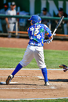 Gersel Pitre (13) of the Ogden Raptors at bat against the Billings Mustangs in Pioneer League action at Lindquist Field on August 14, 2016 in Ogden, Utah. Ogden defeated Billings 15-9. (Stephen Smith/Four Seam Images)