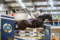Holly Rose and Olivia Newsom. 1.15m-1.20m Relay. 2021 NZL-Easter Jumping Festival presented by McIntosh Global Equestrian and Equestrian Entries. NEC Taupo. Saturday 3 April. Copyright Photo: Libby Law Photography