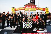 #16: Brett Moffitt, Hattori Racing Enterprises, Toyota Tundra Destiny Homes celebrates in victory lane