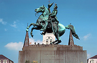 New Orleans:  Gen. Jackson equestrian  monument 1854.  Sculptor Clark Mills.