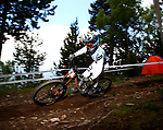 Loris Vergier (FRA) Downhill training sesion, UCI, Moutain Bike World Cup , Vallnord Andorra. 12/07/2018