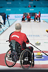 Sochi, RUSSIA - Mar 7 2014 -  Jim Armstrong of Canada's Wheelchair Curling Team trains before the Sochi 2014 Paralympic Winter Games in Sochi, Russia.  (Photo: Matthew Murnaghan/Canadian Paralympic Committee)