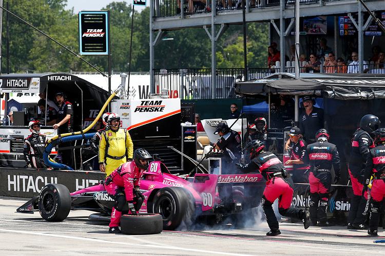 #60: Meyer Shank Racing, Honda, Pit Stop, Jack Harvey
