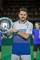 Februari 15, 2015, Netherlands, Rotterdam, Ahoy, ABN AMRO World Tennis Tournament, Final:   winner Stanislas Wawrinka (SUI)  <br /> Photo: Tennisimages/Henk Koster