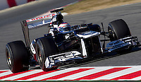 Williams Racing's Finnish Valtteri Bottas drives his car during the F1 Test days in Montmelo racetrack, Barcelona, 22 February 2012. PHOTO Insidefoto / Alejandro Garcia / Anatomica Press