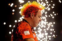 25th May 2021; Marshall Arena, Milton Keynes, Buckinghamshire, England; Professional Darts Corporation, Unibet Premier League Night 14 Milton Keynes; Peter Wright as he walks out on stage