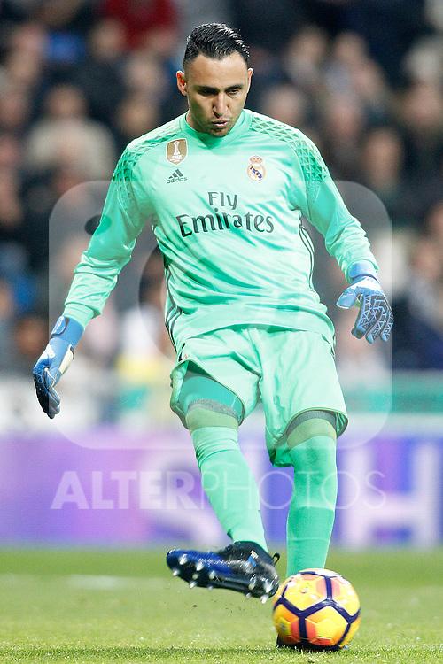 Real Madrid's Keylor Navas during La Liga match. March 1,2017. (ALTERPHOTOS/Acero)