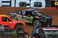 Apr 16, 2011; Surprise, AZ USA; LOORRS driver Johnny Greaves (16)during round 3 at Speedworld Off Road Park. Mandatory Credit: Mark J. Rebilas-.