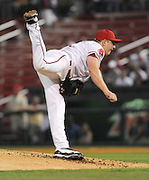 August 25, 2009: RHP Brock Huntzinger (24) of the Greenville Drive, South Atlantic League affiliate of the Boston Red Sox, in a game at Fluor Field at the West End in Greenville, S.C. Photo by: Tom Priddy/Four Seam Images