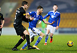St Johnstone v Livingston…12.12.20   McDiarmid Park      SPFL<br />Guy Melamed is held by Jack Fitzwater<br />Picture by Graeme Hart.<br />Copyright Perthshire Picture Agency<br />Tel: 01738 623350  Mobile: 07990 594431