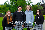 Maria Casey, Julia Olabode, Martina Leane and Bethany Kelly who were happy to start their Leaving Cert in  Killarney Community College on Wednesday