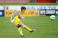 Sky Blue FC  goalkeeper Jenni Branam (23). Sky Blue FC defeated the Chicago Red Stars 1-0 during a Women's Professional Soccer match at Yurcak Field in Piscataway, NJ, on June 17, 2009.