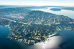 wealthy homes and docks line the shoreline of Lake Washington east of Seattle in one of the country's wealthiest zip codes