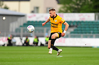 Dan Butler of Newport County in action during the Sky Bet League Two Play-off Semi Final: First Leg match between Newport County and Mansfield Town at Rodney Parade in Newport, Wales, UK.  Thursday 09 May 2019